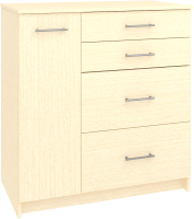Комод Кортекс-мебель Модерн 90-1д4ш (венге светлый) -