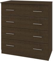 Комод Кортекс-мебель Модерн 90-4ш (венге) -