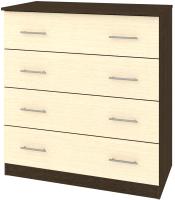 Комод Кортекс-мебель Модерн 90-4ш (венге/венге светлый) -