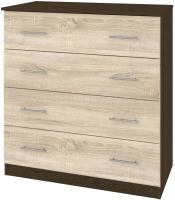 Комод Кортекс мебель Модерн 90-4ш (венге/дуб сонома) -
