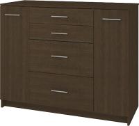 Комод Кортекс-мебель Модерн 120-2д4ш (венге) -