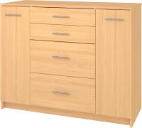 Комод Кортекс мебель Модерн 120-2д4ш (ольха) -