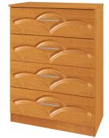 Комод Кортекс-мебель Рио 60-4ш (ольха/виктория) -