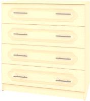 Комод Кортекс-мебель Рио 90-4ш (венге светлый/фараон) -