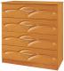 Комод Кортекс-мебель Рио 90-4ш (ольха/виктория) -
