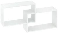 Полка-ячейка Кортекс-мебель КМ 24 (белый) -