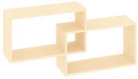 Полка-ячейка Кортекс-мебель КМ 24 (венге светлый) -