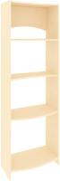 Стеллаж Кортекс-мебель КМ30 волна (венге светлый) -