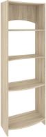 Стеллаж Кортекс-мебель КМ30 волна (дуб сонома) -