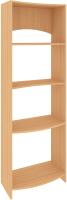 Стеллаж Кортекс-мебель КМ30 волна (ольха) -