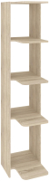 Стеллаж Кортекс-мебель КМ31 угловой (дуб сонома) -