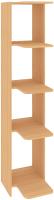 Стеллаж Кортекс-мебель КМ31 угловой (ольха) -
