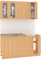 Готовая кухня Кортекс мебель Корнелия Ретро 1.5м (ольха/мадрид) -