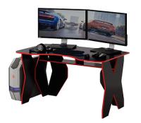 Компьютерный стол MFMaster Таунт-1 / МСТ-СИТ-01-ЧР-КР-16 (черный/красный) -