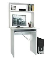 Компьютерный стол MFMaster Милан-2П / М-2ПН-БТ (белый) -