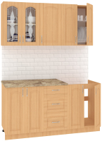 Готовая кухня Кортекс мебель Корнелия Ретро 1.6м (ольха/марсель) -