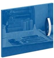 Дверь MFMaster Либерти / МСТ-СТЛ-ДС-СН-ГЛ (синий) -