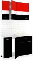 Готовая кухня Кортекс мебель Корнелия Экстра 1.2м (красный/черный/марсель) -