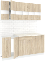 Готовая кухня Кортекс мебель Корнелия Экстра 1.8м (дуб сонома/королевский опал) -
