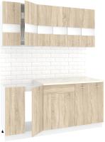Готовая кухня Кортекс мебель Корнелия Экстра 1.8м (дуб сонома/марсель) -