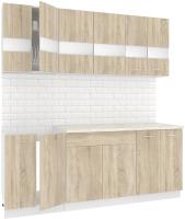 Готовая кухня Кортекс мебель Корнелия Экстра 2.0м (дуб сонома/мадрид) -