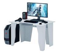 Компьютерный стол MFMaster Страйкер-1 / МСТ-СИС-01-БТ-16 (белый) -