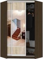 Шкаф Кортекс мебель Сенатор ШК30 Геометрия ДСП с зеркалом (венге/дуб сонома) -