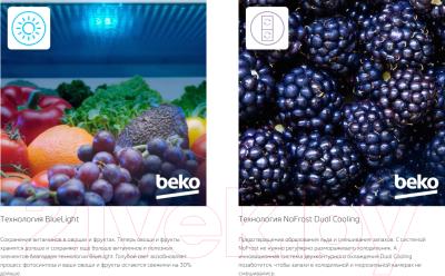 Холодильник с морозильником Beko RCNK356E20S