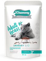 Корм для кошек Chammy Premium для стерилизованных кошек с телятиной (85г) -