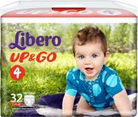 Подгузники-трусики Libero Up&Go Maxi 4 (32шт) -