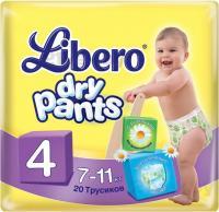 Подгузники-трусики Libero Dry Pants 4 Maxi (20шт) -