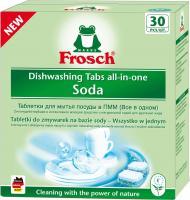 Таблетки для посудомоечных машин Frosch All in One Soda (30шт) -