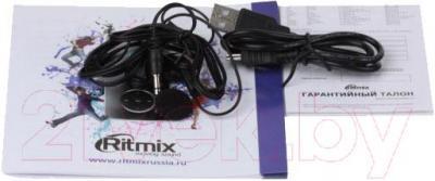 MP3-плеер Ritmix RF-4950 (16Gb, черный) - кабели в комплекте
