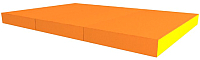Гимнастический мат Romana ДМФ-ЭЛК-14.21.00 (оранжевый/желтый) -