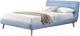 Двуспальная кровать Halmar Elanda 160x200 (синий) -