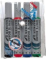 Набор маркеров для доски Pentel Maxiflo MWL5M-4 (4шт, ассорти) -