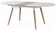 Обеденный стол Halmar Caliber (белый матовый/дуб сан ремо) -