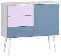 Комод Woodcraft Дженсон 713 (белый/фиолет/лаванда) -