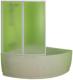 Пластиковая шторка для ванны Kolpa-San Quat TP 105 (белый) -