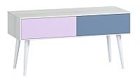 Тумба Woodcraft Дженсон 716 (белый/фиолетовый/лаванда) -