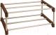 Полка для обуви Sheffilton SHT-SR3-P (коричневый/дуб светлый глянцевый) -