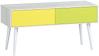 Тумба Woodcraft Дженсон 716 (белый/жёлтый/лайм) -