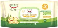 Влажные салфетки детские Equilibra Baby нежные для детей (72шт) -
