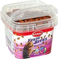 Лакомство для кошек Sanal Fish Bites / 1574SC (75г) -