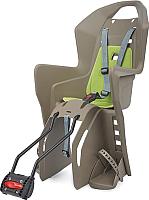 Детское велокресло Polisport Koolah FFS 29 / 8631400030 (коричневый/зеленый) -
