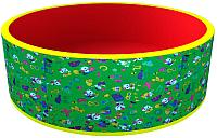 Игровой сухой бассейн Romana Веселая поляна ДМФ-МК-02.51.03 (без шариков, зеленый/красный) -
