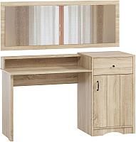 Туалетный столик с зеркалом Woodcraft Лофт 301 (дуб сонома) -