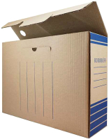Коробка архивная Koroboff 322х80х240 (бурый) -