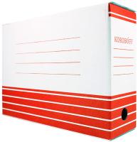 Коробка архивная Koroboff 327x100x240 (белый/красная печать) -