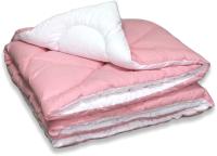 Одеяло Angellini Дуэт 8с015дб (150x205, розовый/белый) -